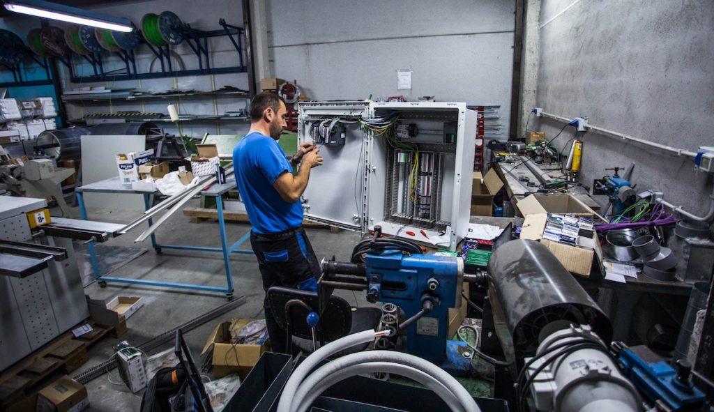 Foto interior del taller de Interclima