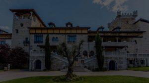 Fondo de imagen de hotel-castillo