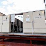 Sistema de climatización externo edificio de hospital