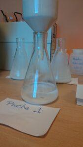 CISCO2. Ensayo en laboratorio con sorbente líquido